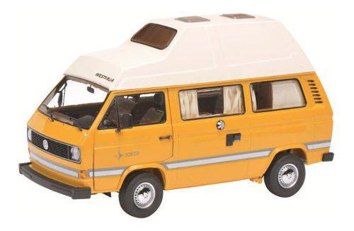 1979-1990 volkswagen t3 joker camping bus amarillo 1/18 die