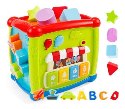Juguete cubo musical didáctico bebes y niños