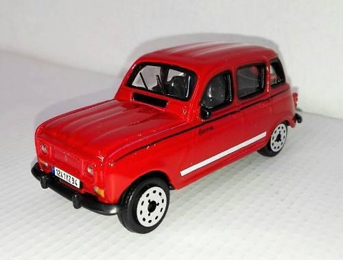 Renault 4 coleccionable a escala 1:43