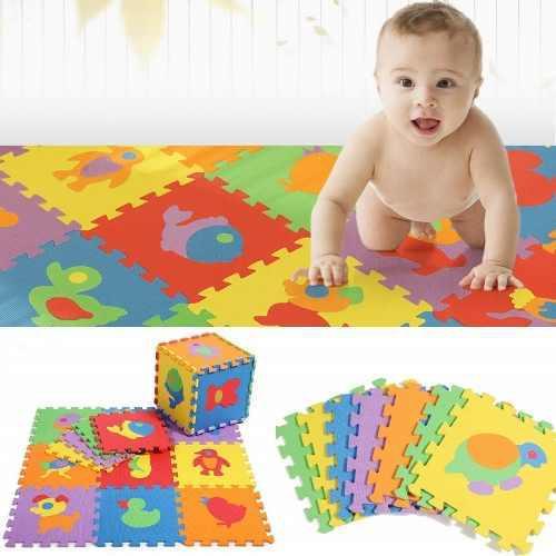 Tapete alfombra foamy letras números figuras 30 piezas piso