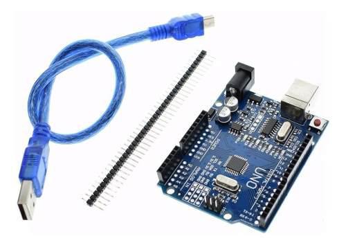 Arduino Uno R3 Atmega 328p Driver Ch340g + Cable Usb