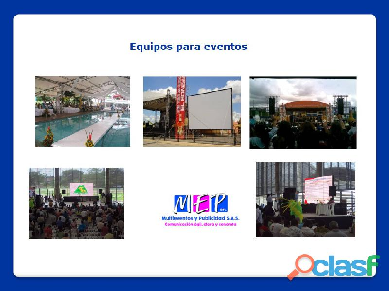 Equipos de soportes para la realización de eventos en la costa caribe 12