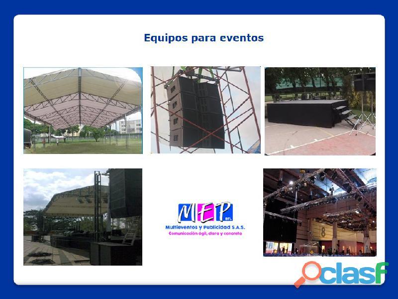 Equipos de soportes para la realización de eventos en la costa caribe 13