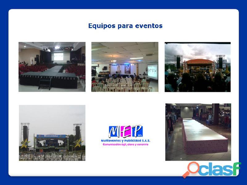 Equipos de soportes para la realización de eventos en la costa caribe 14