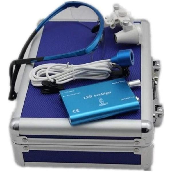 Gafas lupa cirugia odontologia 3.5 x 420mm led maleta