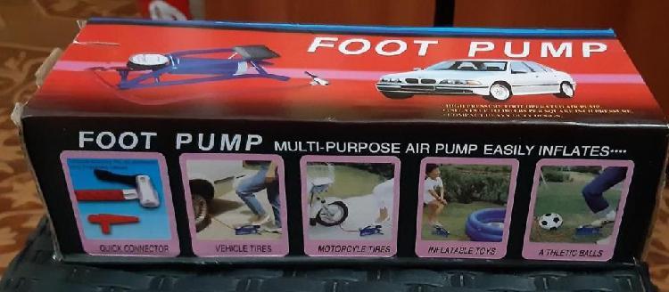 Inflador manual para carros motos bicicletas balones etc.
