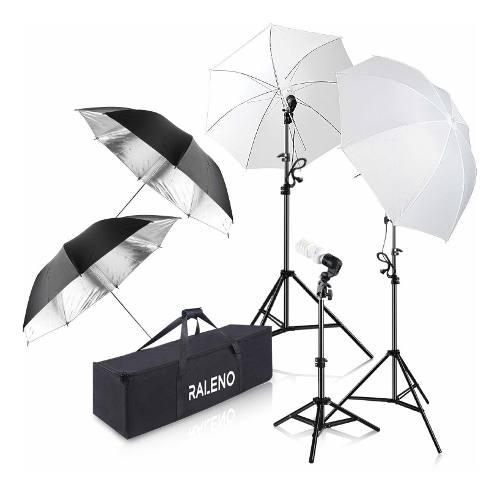 Kit de iluminación para sombrilla de fotografía, 600w 5...
