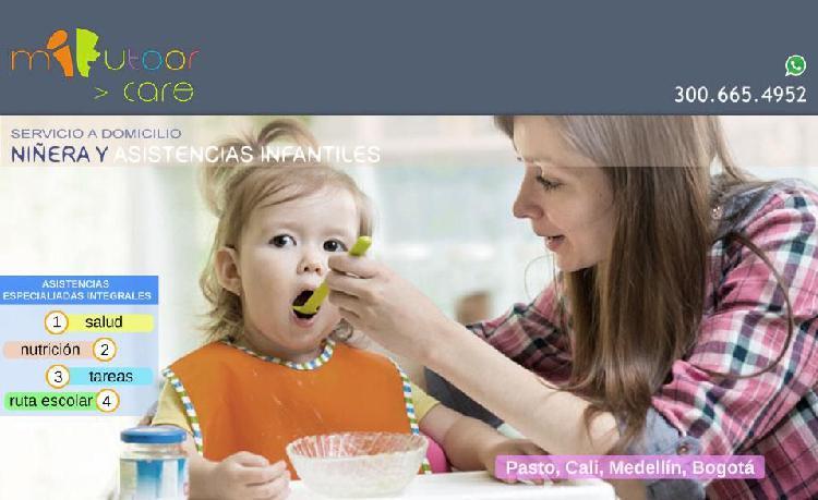 Servicio de niñera a domicilio cali