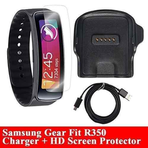 Cargador gear fit con protector de pantalla hd, [r350],