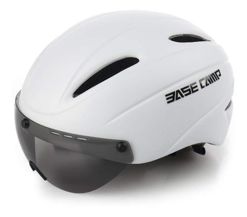 Casco de bicicleta de ciclismo con visor de escudo extr...