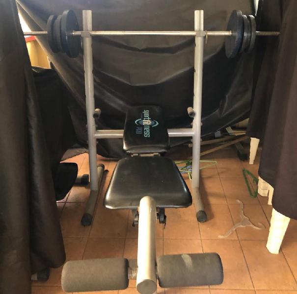 Maquina press plano con barra