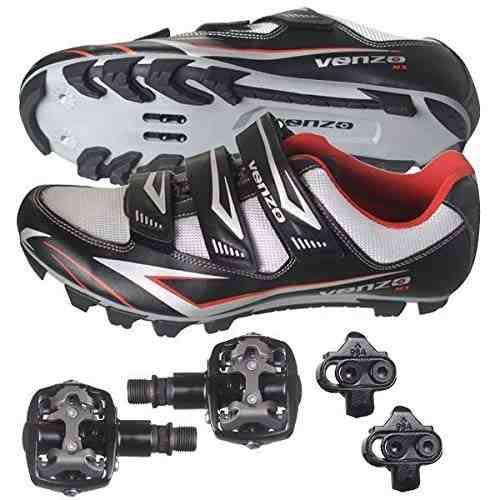 Venzo Mountain Bike Bicicleta Ciclismo Shimano Spd Shoes +
