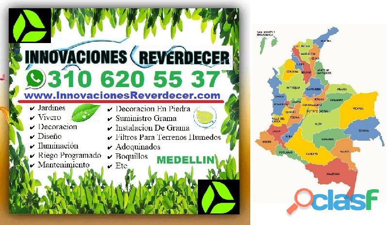 ⭐ INNOVACIONES REVERDECER Medellin, JARDINERO, VIVERO, SILLETAS, Bello, Itagui, Envigado, Apartado, 11