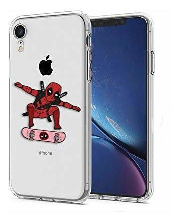 Funda Para iPhone Xr, Deadpool Skateboarding Superheros...