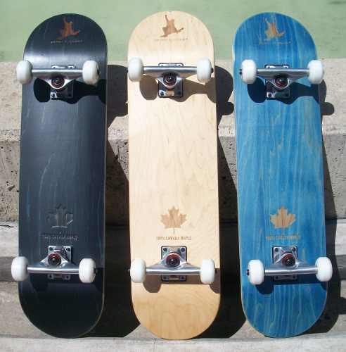 Skate tabla patineta pino canadiense + envío gratis
