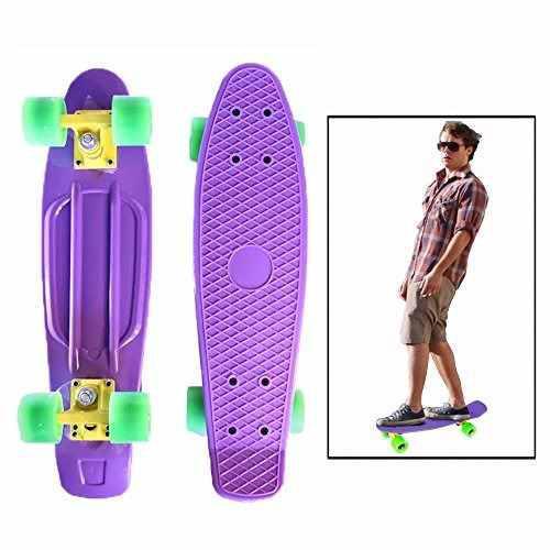 Toy Cubby Skateboard 22 Inch Retro Style Cruiser Banana Boar
