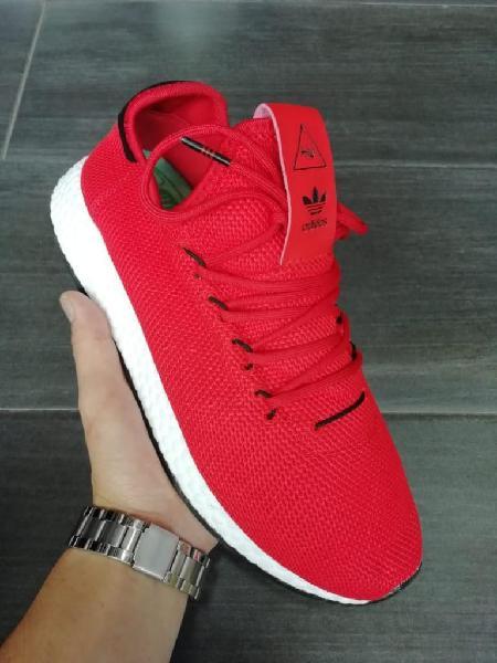 Zapatillas adidas pharrell william rojo