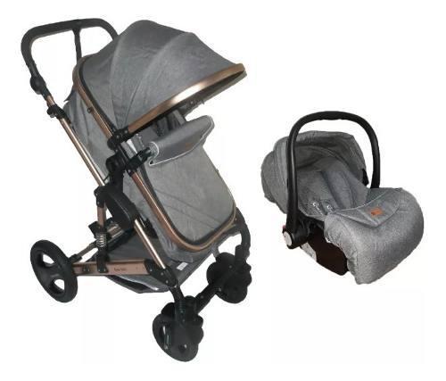 Coche moisés europeo+ silla para carro aluminio