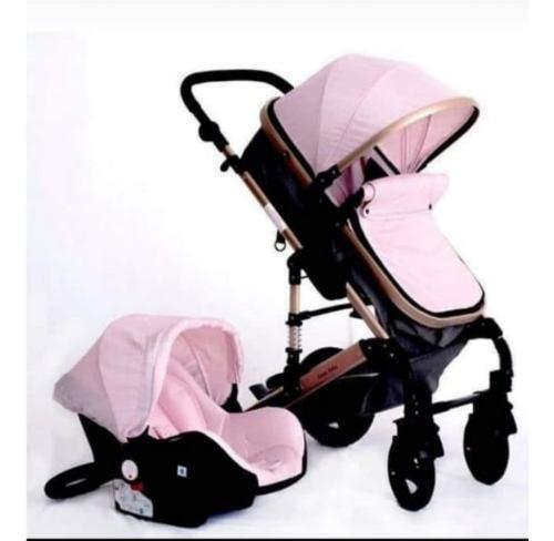Coche para bebe tipo moises en aluminio + silla para el ca