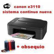 Multifuncional canon e3110 sistema continuo full tinta wifi