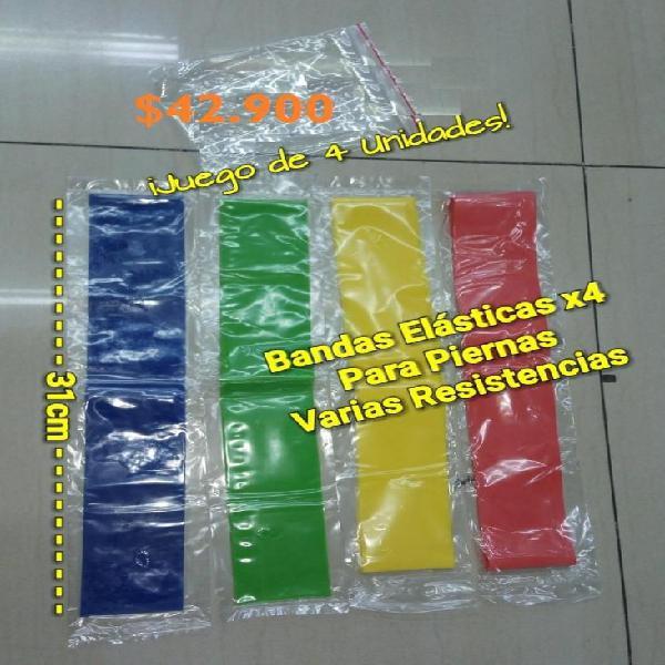 Bandas elásticas para pierna x4 resistencias