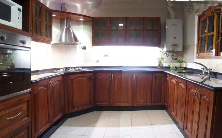 Cocinas madera maciza cedro flor morado, precios de fabrica.