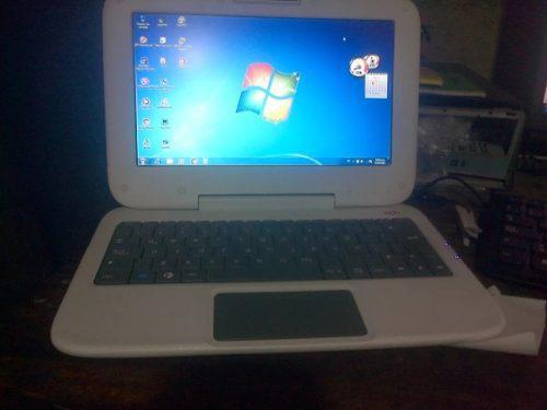 Mini Laptom Portatil Canaima Letras Rojas Como Nueva