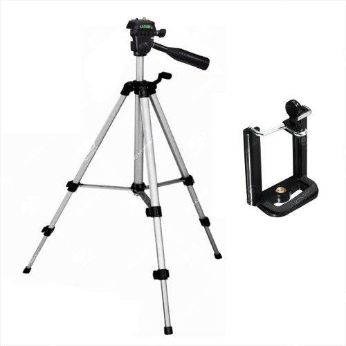 Trípode para cámara 3110 / 102cm + estuche + clip celular