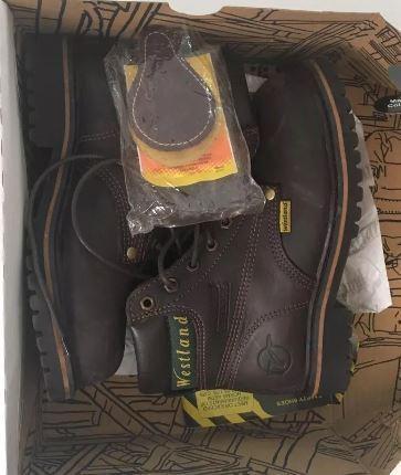 Botas de seguridad wesland nuevas en cuero punta acero,