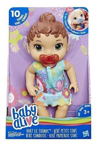 Baby alive dulces sonidos castaño