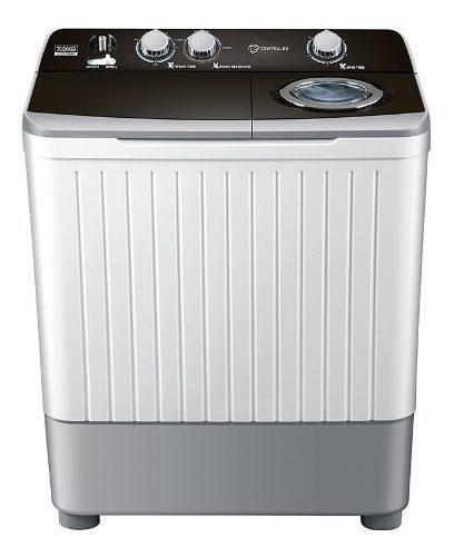 Lavadora semiautomática de 7 kg blanca centrales