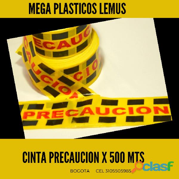CINTA PRECAUCIÓN ROLLO X 500 METROS