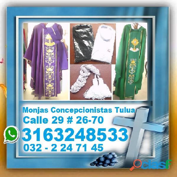 ⭐ ornamentos liturgicos, casullas, estolas, palias, purificadores, corporales, agnus dei, bordados,