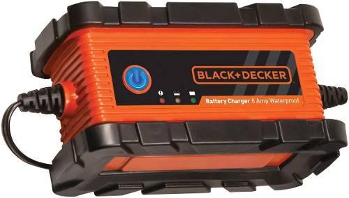 Cargador bateria black decker 12v 6a moto carro ups gel agm
