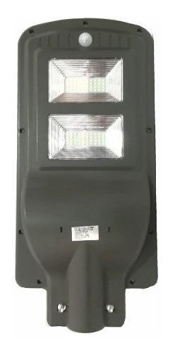 Lámpara led solar alumbrado público 40w sensor de