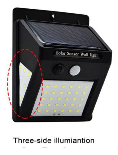 Luz reflector solar 40 led impermeable con sensor movimiento