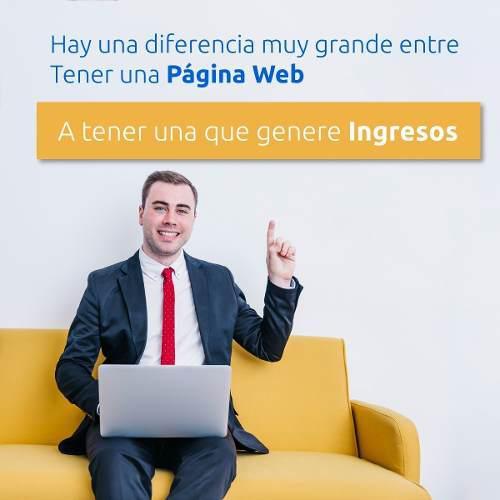 Diseño pagina web profesional incluye