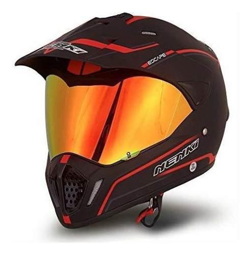 Nenki dual sport enduro motocross y moto casco nk-310 punto