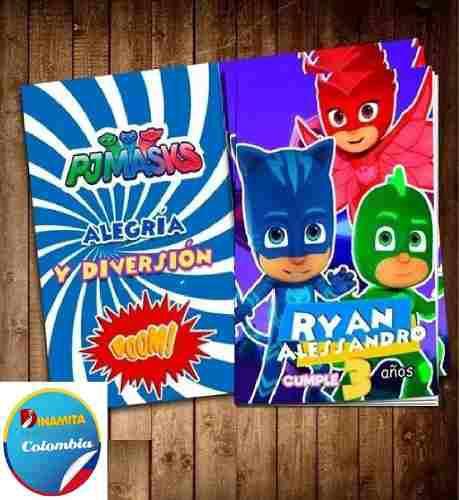 Libro Para Colorear Personalizados De Heroes En Pijama