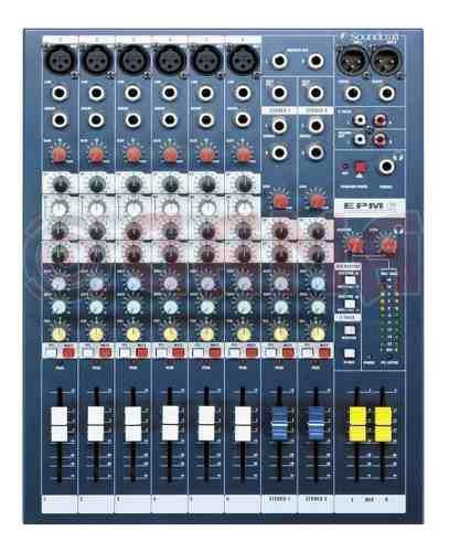 Mezclador / Mixer Soundcraft Epm 6 - 6 Entradas Mono + 2 St