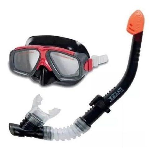 Snorkel Set Careta Buceo Intex Ori Policarbonato Env Inmedia