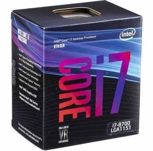 Intel Core I7-8700 3.2 Ghz 6-core Lga 1151 Procesador