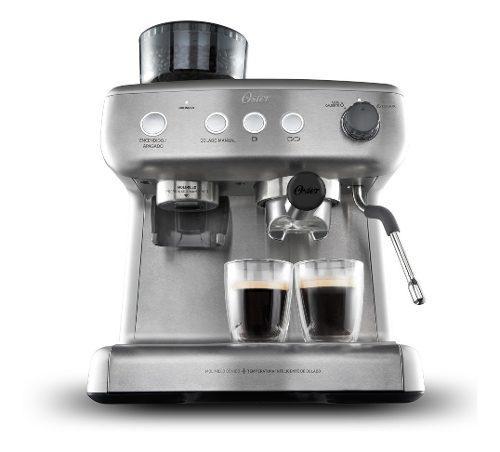 Cafetera para espresso oster® perfect brew 15 bares molino