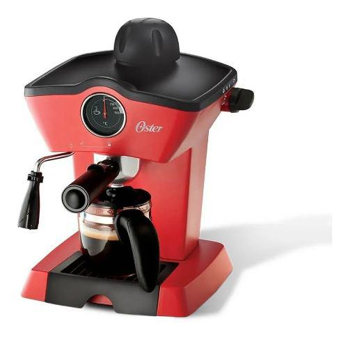Cafetera vapor oster espresso y cappuccino bvstem4188 roja