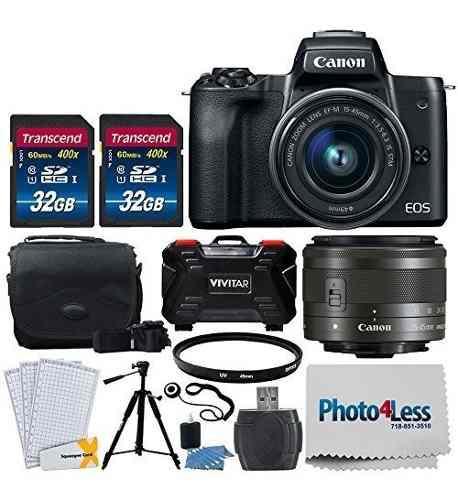 Canon eos m50 cámara digital sin espejo mas efm 1545 mm f