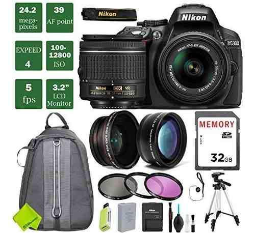 Cámara nikon d5300 dslr con el paquete 18-55mm lente 3 (la
