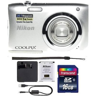 Nikon coolpix a100 20.1mp cámara digital compacta plata y p