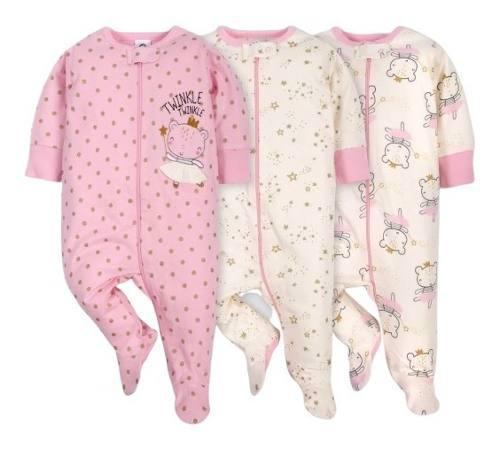 Pijamas bebe niña gerber 100% original - envío gratis