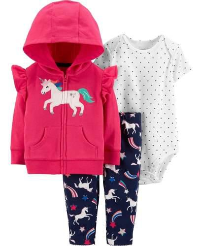 Set conjuntos carters 3 piezas niña 18 meses, unicornio.