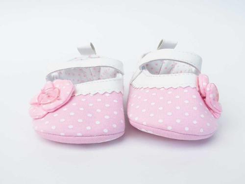 Zapatos para bebe niña - baleta rosa puntos ref: 190